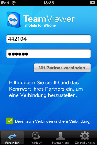 teamviewer iphone