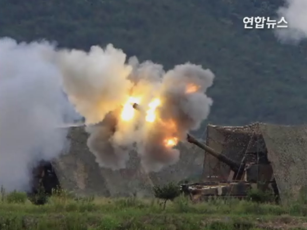 north korean artillery - quelle http://twitpic.com/39erbi/full